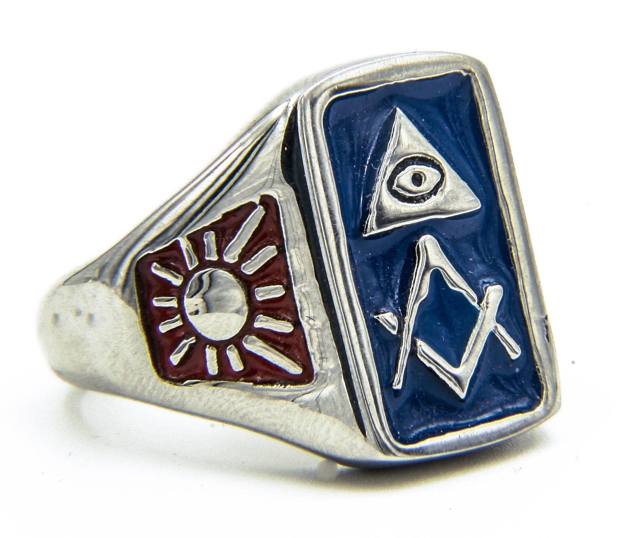 Blue Masonic Ring